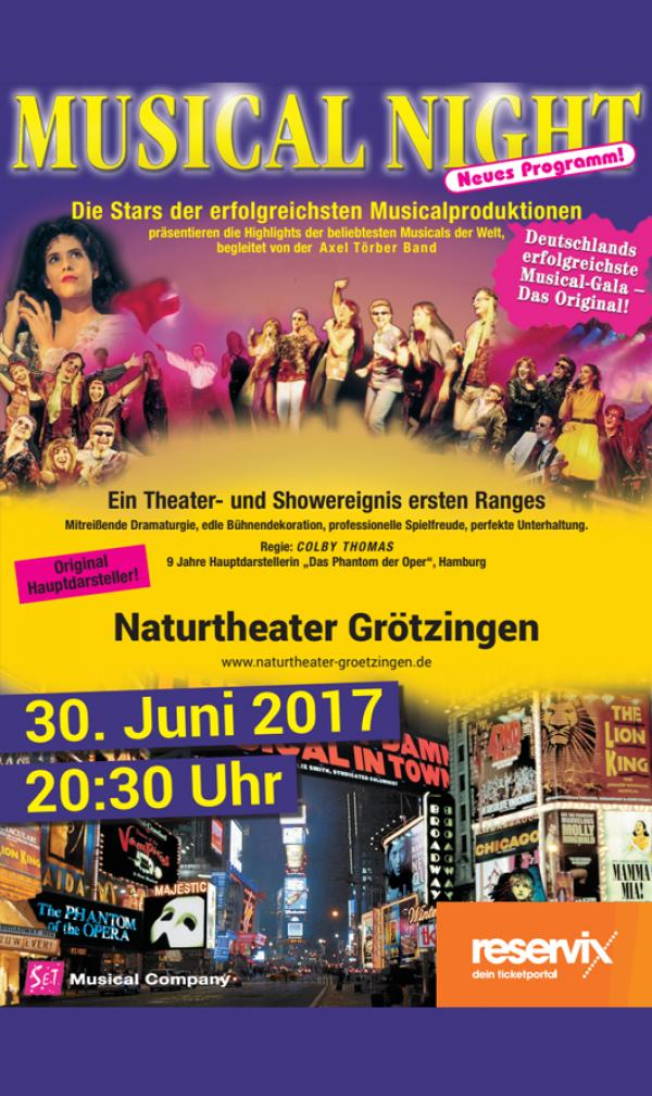 Plakat-Motiv 'Musical Night 2017'