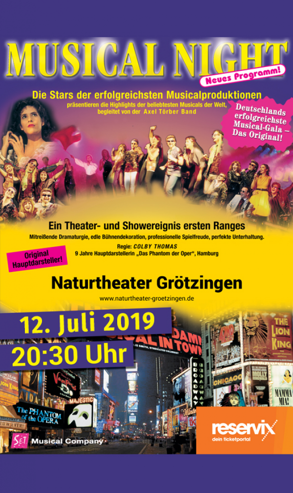 Plakat-Motiv 'Musical Night 2019'